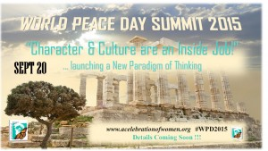 WORLD PEACE DAY 2015 - SAVE THE DATE