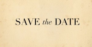 save the date beige black