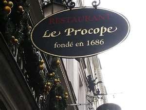 Café de Procope, opened in 1686