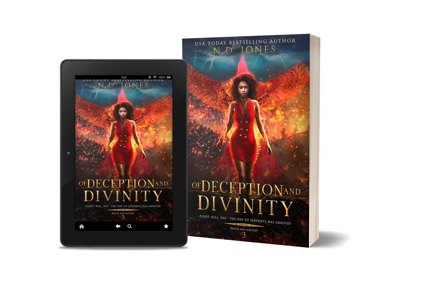 Of Deception and Divinity Black Paranormal Romance Witch and Shapeshifter by ND Jones