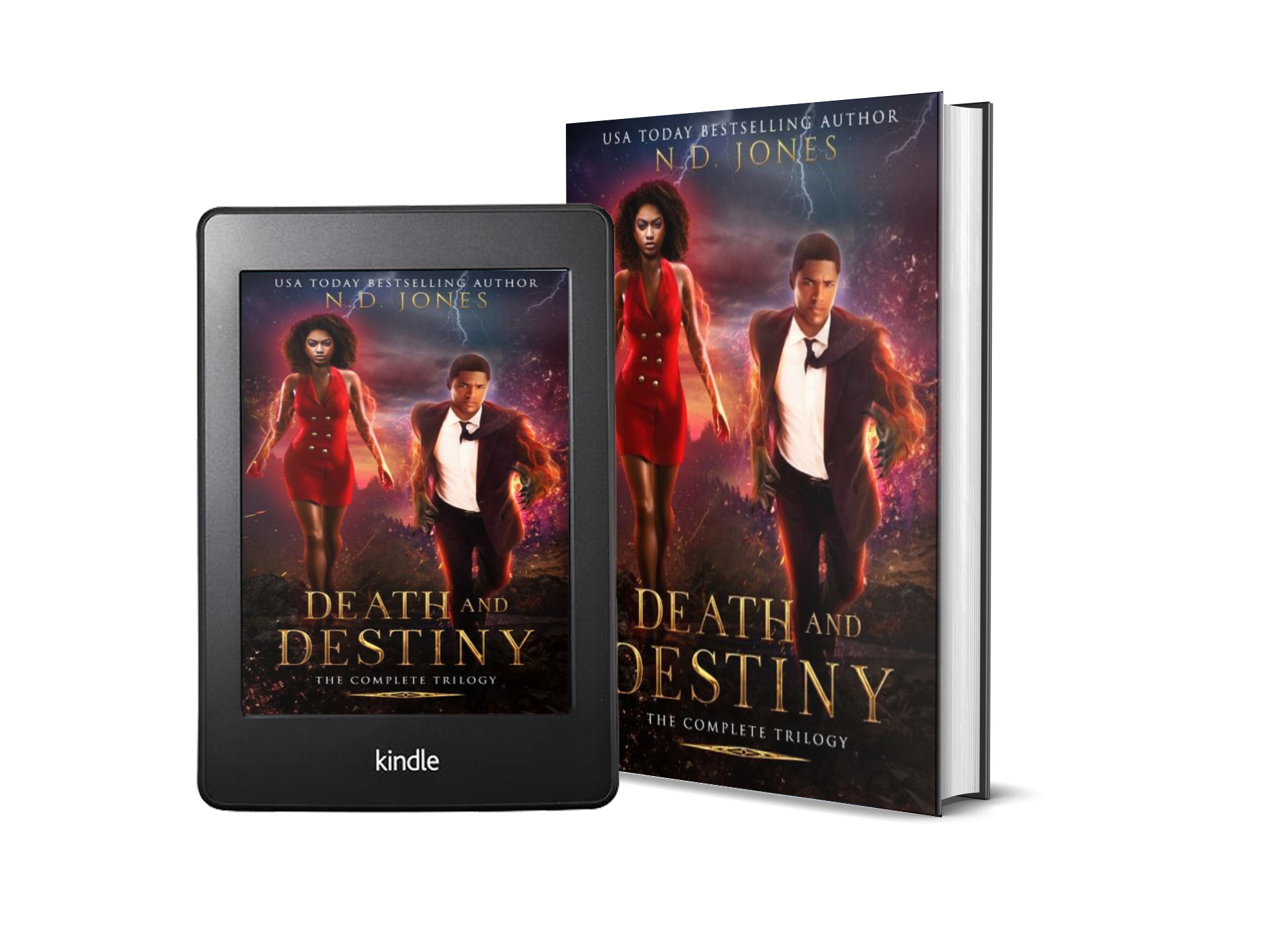 Death and Destiny Complete Paranormal Romance series by ND Jones