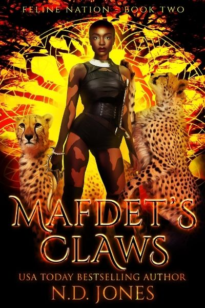 Mafdet's Claws Black American Shapeshifter Fantasy by ND Jones