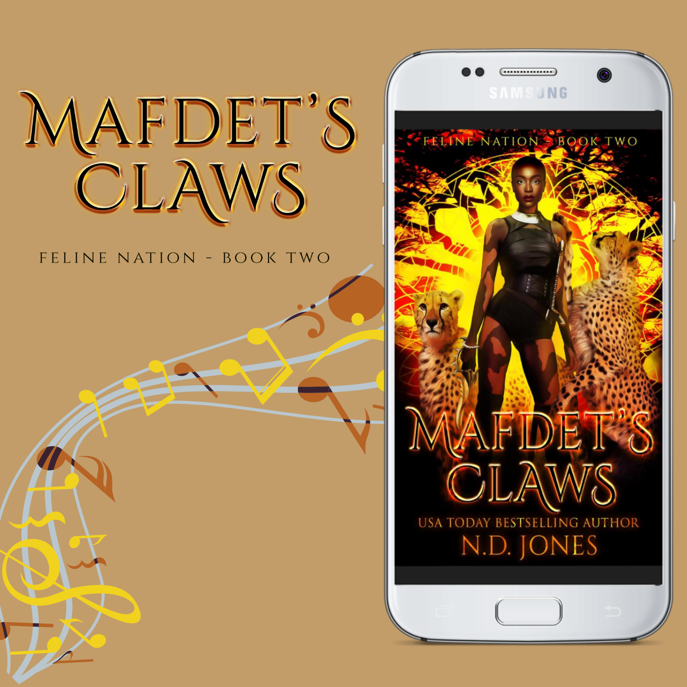 Mafdet's Claws African American Shifter Fantasy Playlist by ND Jones