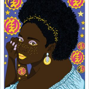 Beautiful Black Woman Art ND Jones
