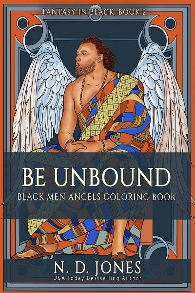 Be UnBound Black Angels Coloring Book ND Jones Black Fantasy