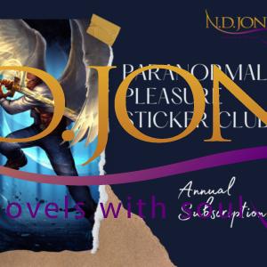 Paranormal Pleasure Sticker Club ND Jones Black Fantasy Romance Author