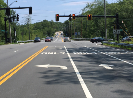 Tiffany Street Intersection Approach