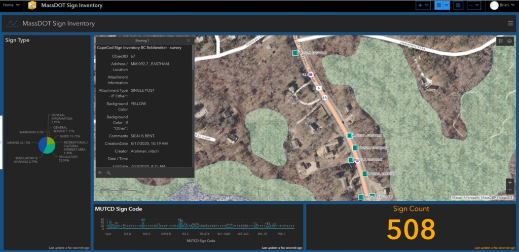 MassDOT Sign Inventory in ArcGIS