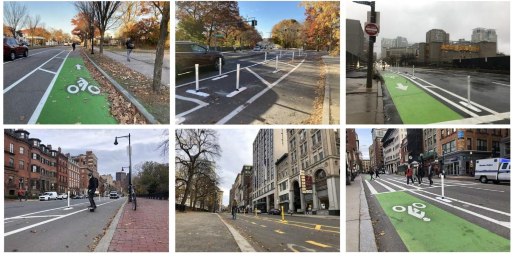 2020 Network of Separated Lanes: 6 photos of bike lanes