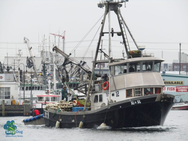 R&R, NW Seiner, Departing Fishermen's Terminal, Ship Canal, It's Fall Raining Like Crazy… Photography by: Salty Dog Boating News, Salty Sea Chick, PNW Canal Marine Traffic Source!