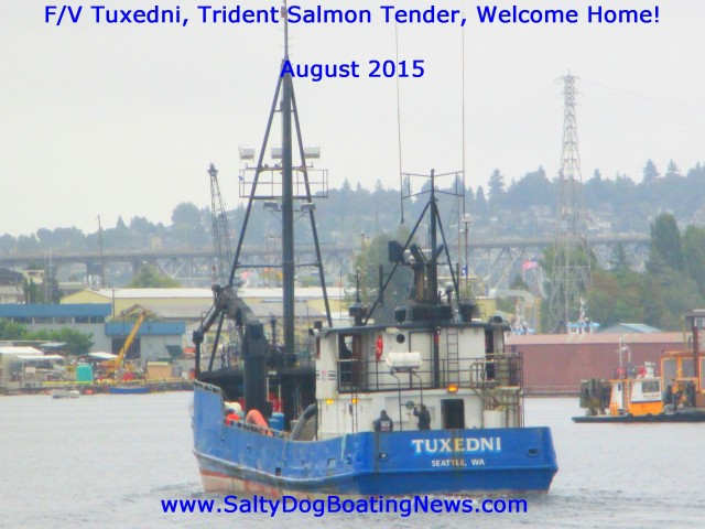 F/V Tuxedni, AK Tender, Trident Boat, Welcome Home to the Lower 48!