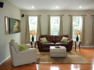 living room staged - Sterling