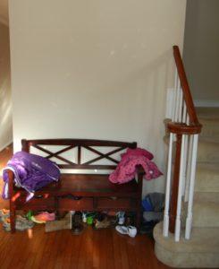 decluttering foyer