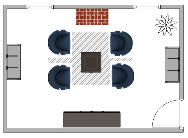 Living Room Layout Diagrams