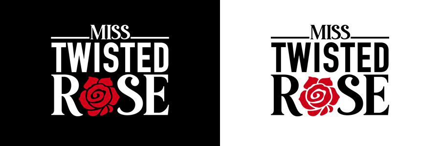 Miss Twisted Rose Logo Dark and Light
