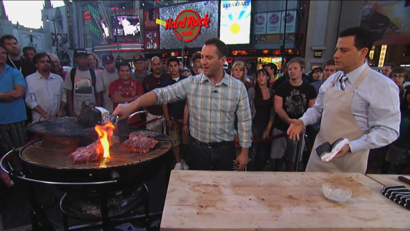 Adam Perry Lang and Jimmy Kimmel