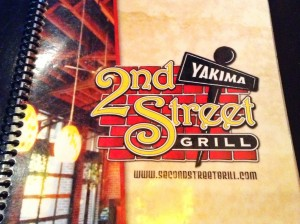 Dinner at 2nd Street Grill, an American classic restaurant with an Asian flair, downtown Yakima.