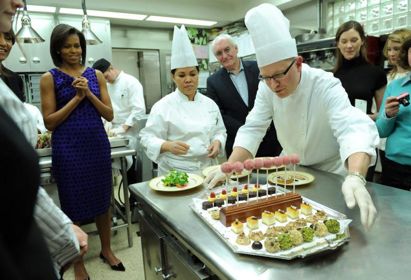 Michelle Obama William Yossess White House Chef