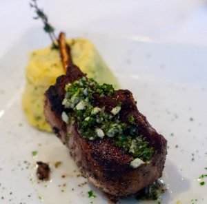 Grilled spring lamb chop