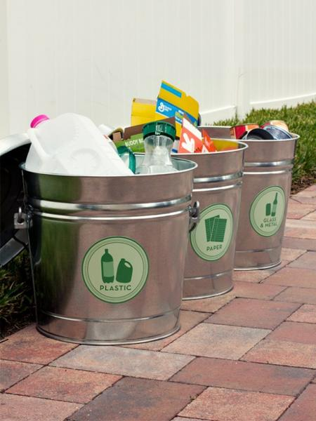 decorative recycle containers