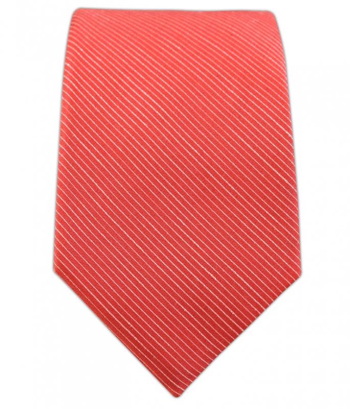 Fountain Coral Linen Silk-The-Tie-Bar