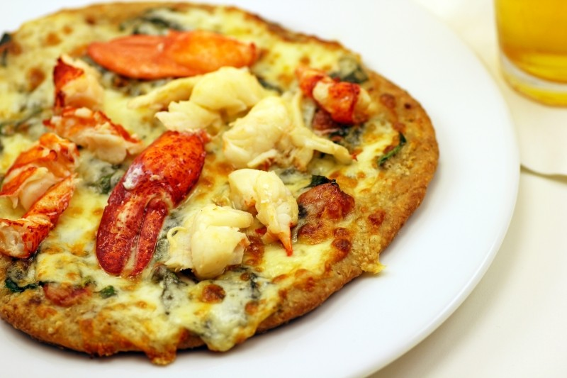 Maine Lobster White Truffle Pizza