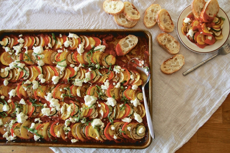 vegetarian ratatouille Molly Gilbert Sheet Pan Suppers