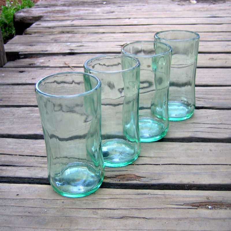 upcycled glass drinkware sustainable brands