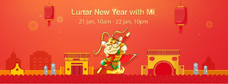 The Xiaomi Lunar New Year Sales are coming starting 10AM 21 January 2