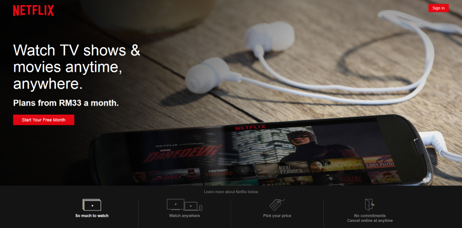 Heads Up - Netflix now available in Malaysia from RM33 a month! 2