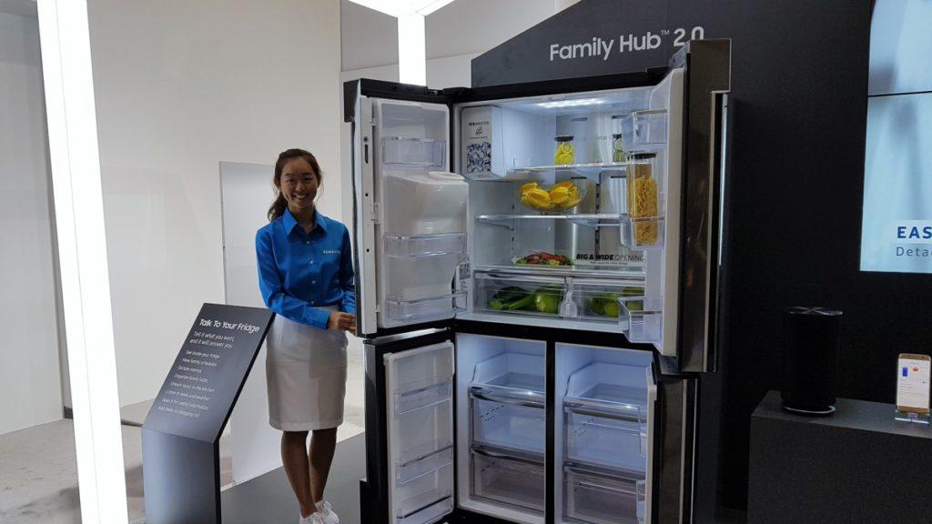 Samsung's cool looking new Family Hub 2.0 fridge seen at SEA Forum 2017 2