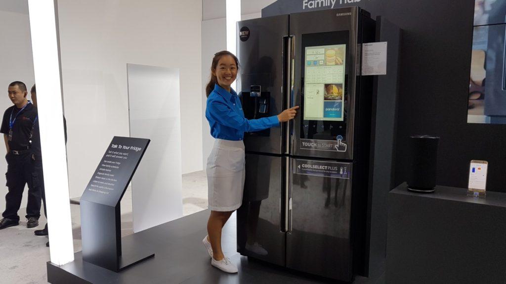 Samsung's cool looking new Family Hub 2.0 fridge seen at SEA Forum 2017 3