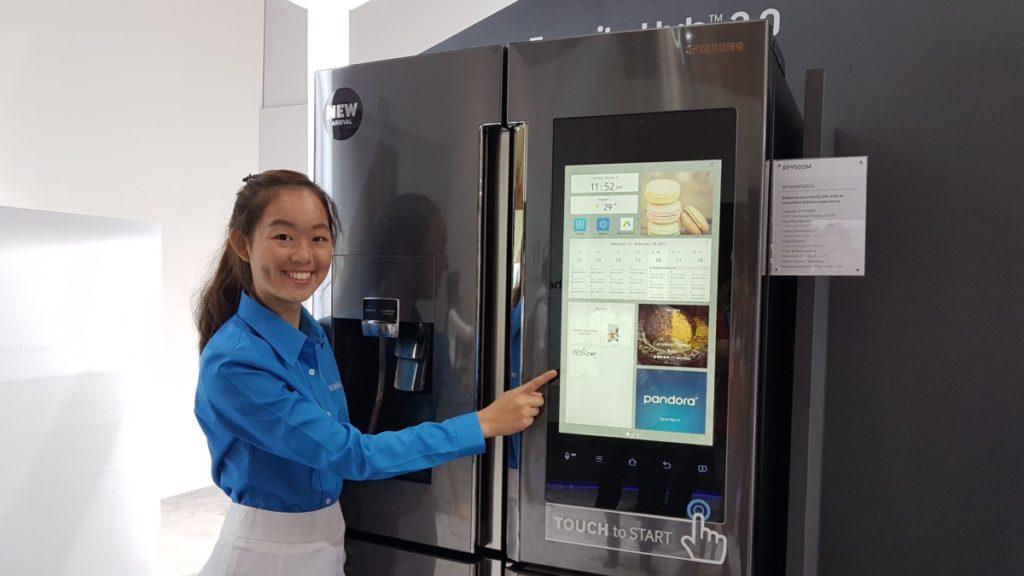 Samsung's cool looking new Family Hub 2.0 fridge seen at SEA Forum 2017 1
