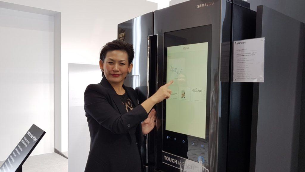 Samsung's cool looking new Family Hub 2.0 fridge seen at SEA Forum 2017 4