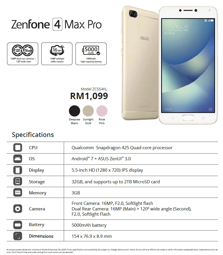 Zenfone 4 Selfie Pro, Zenfone 4 Selfie and Zenfone 4 Max preorders announced for Malaysia on Lazada and Shopee 3
