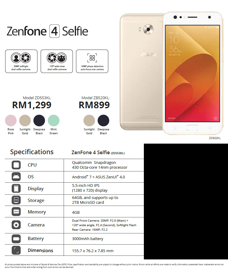 Zenfone 4 Selfie Pro, Zenfone 4 Selfie and Zenfone 4 Max preorders announced for Malaysia on Lazada and Shopee 4