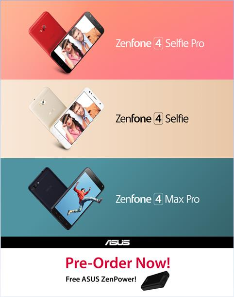 Zenfone 4 Selfie Pro, Zenfone 4 Selfie and Zenfone 4 Max preorders announced for Malaysia on Lazada and Shopee 2