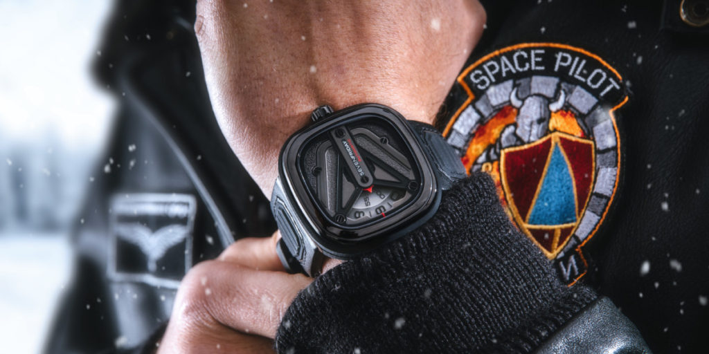 This SEVENFRIDAY M3/01 Spaceship timepiece is out of this world 17