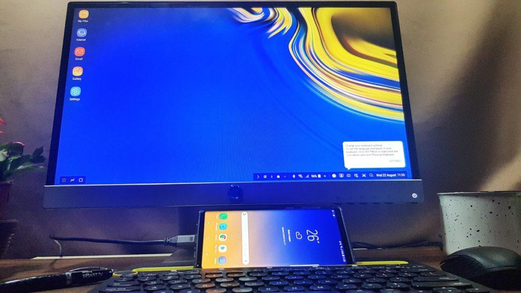 DeX Mode on Galaxy Note9 in Ocean Blue Hitech Century