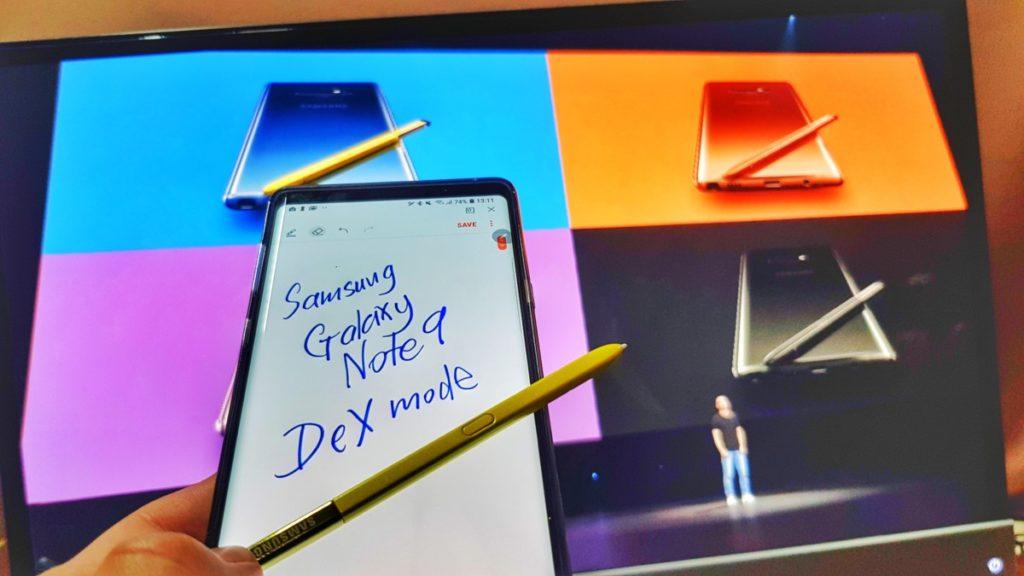 Samsung's Galaxy Note9 Dex mode