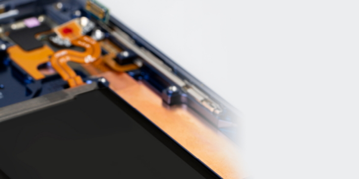 The Water Carbon Cooling system in the Galaxy Note9 helps the phone manage heat much more efficiently