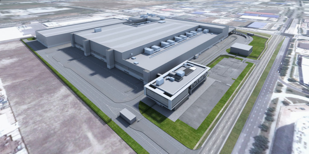 A render of the proposed Dyson Automotive Manufacturing Facility. Source: Dyson