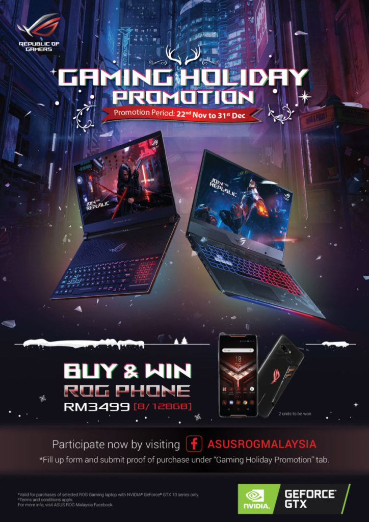 Asus rolls out Gaming Holiday Promotion with chance to win a ROG Phone 1