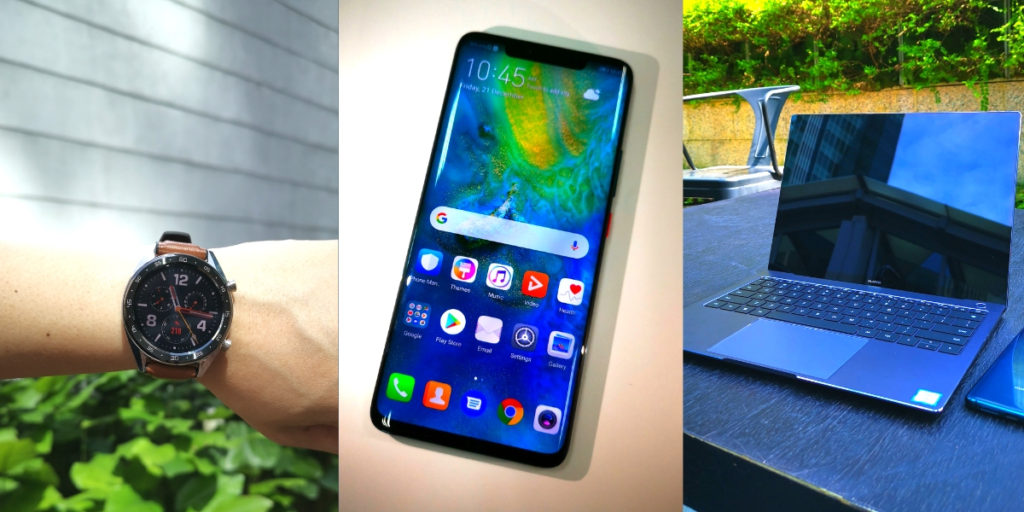 The Huawei Power Tech Trifecta - the Mate 20 Pro, MateBook X Pro and Watch GT 12