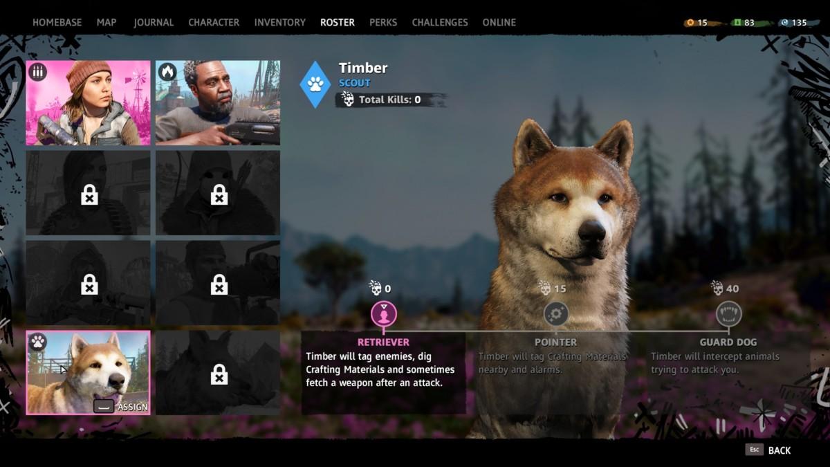 Far Cry New Dawn dog
