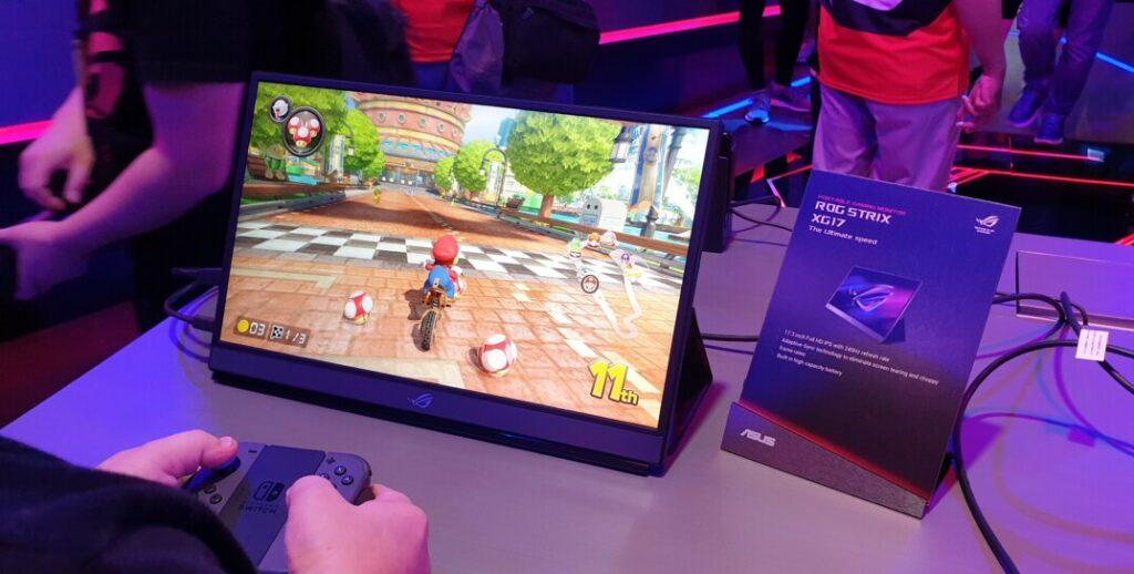 Asus ROG Strix XG17 240Hz portable gaming monitor showcased at Computex 2019 21