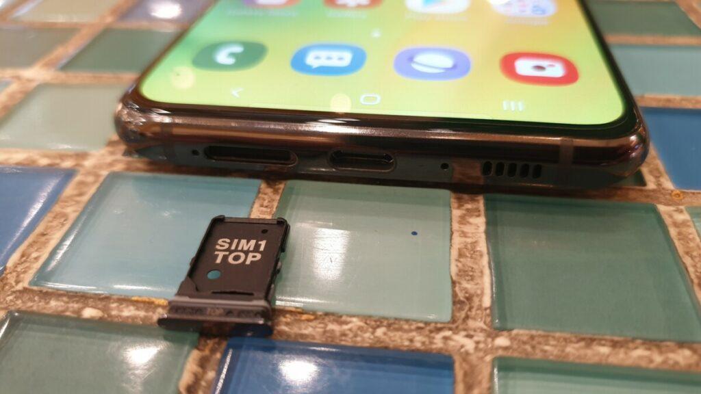 Galaxy A80 sim tray