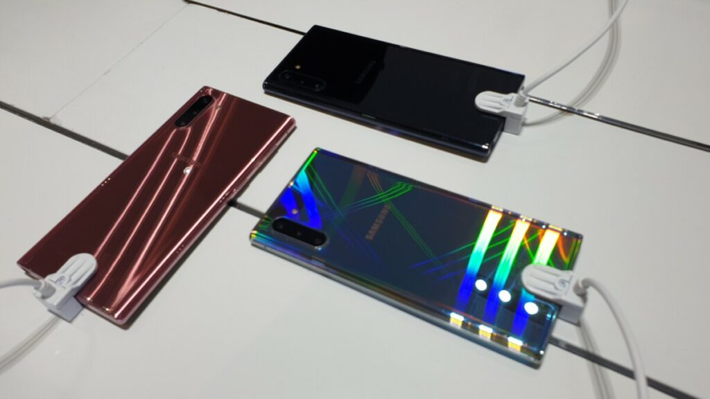 Colour choices for the Galaxy Note 10 in Malaysia