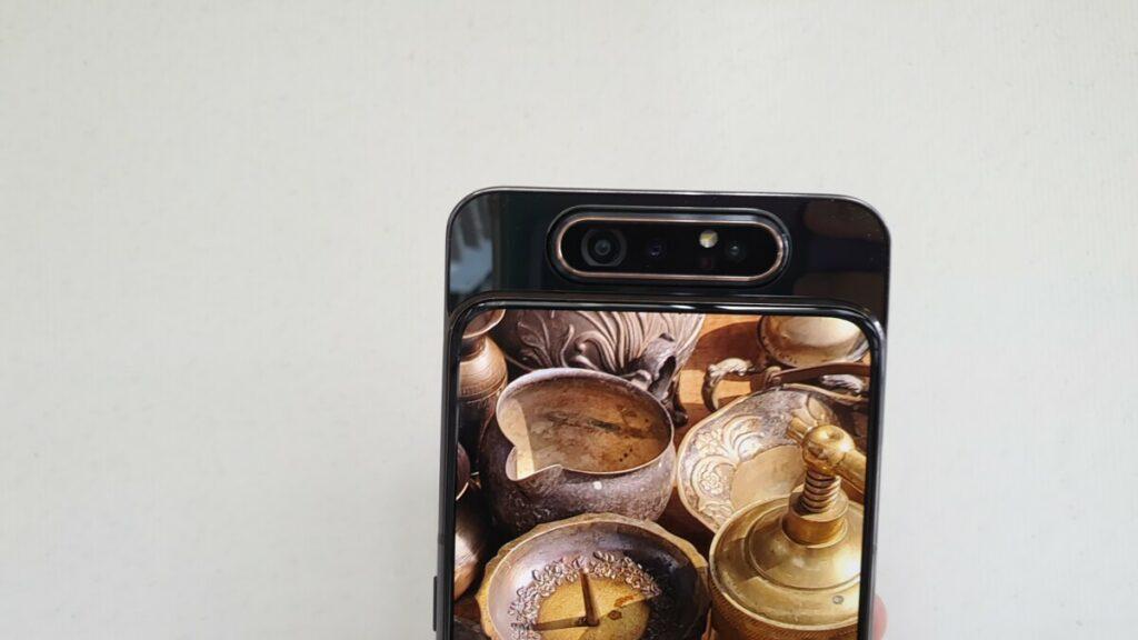 Galaxy A80 camera closeup