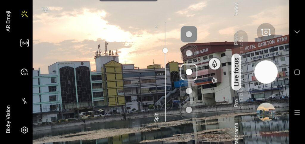 Galaxy Note10+ camera UI